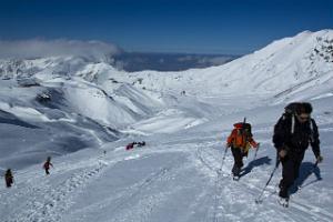 登山の目標の山頂