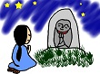 手を合わせて祈る女性