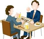 友人と食事