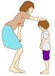 優しく叱る母親