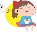 好きな曲を聴いて緊張をほぐす女子