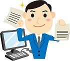 効率よく文章を書くビジネスマン
