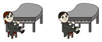 プロのピアニストとアマチュアのピアニスト