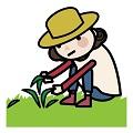 雑草を食べる宗次 徳二さんの少年時代