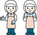 掃除をする従業員