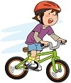 自転車で歩道を突っ走る子供