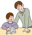 息子を褒める父親