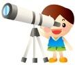 星を眺める子供