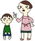 根気がない子供を叱っている母親