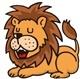 アリに頭を下げるライオン