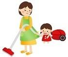 忙しい母親と遊びたい子供