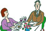 高級料理店のカップル