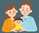 子供に愛情を注ぐ両親