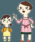 厳しくしつける親