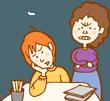 子供の成績を心配する親