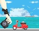 バイクで旅をする人
