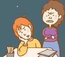 子どもを心配する親