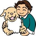 喜びをシッポで表現する犬