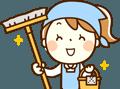 喜んで掃除する女性