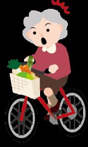 自転車のおばあさん