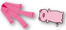 ピンクの寝具
