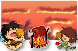 原始人の食事