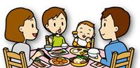 家族みんなで食事