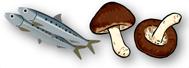 青魚やシイタケ