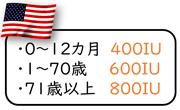 アメリカのビタミンD目安量