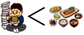 食事は量より質