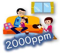 部屋の二酸化炭素濃度