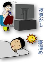 不規則な睡眠パターン