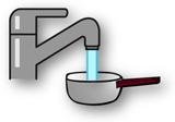 綺麗な水と鍋