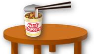 テーブルと箸