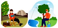 キャンプや釣り