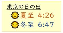 東京の日の出
